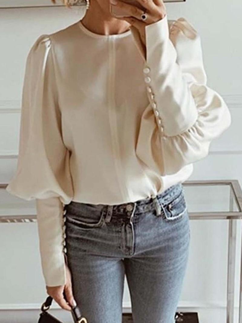 Ericdress Lantern Slim Long Sleeve Standard Blouse