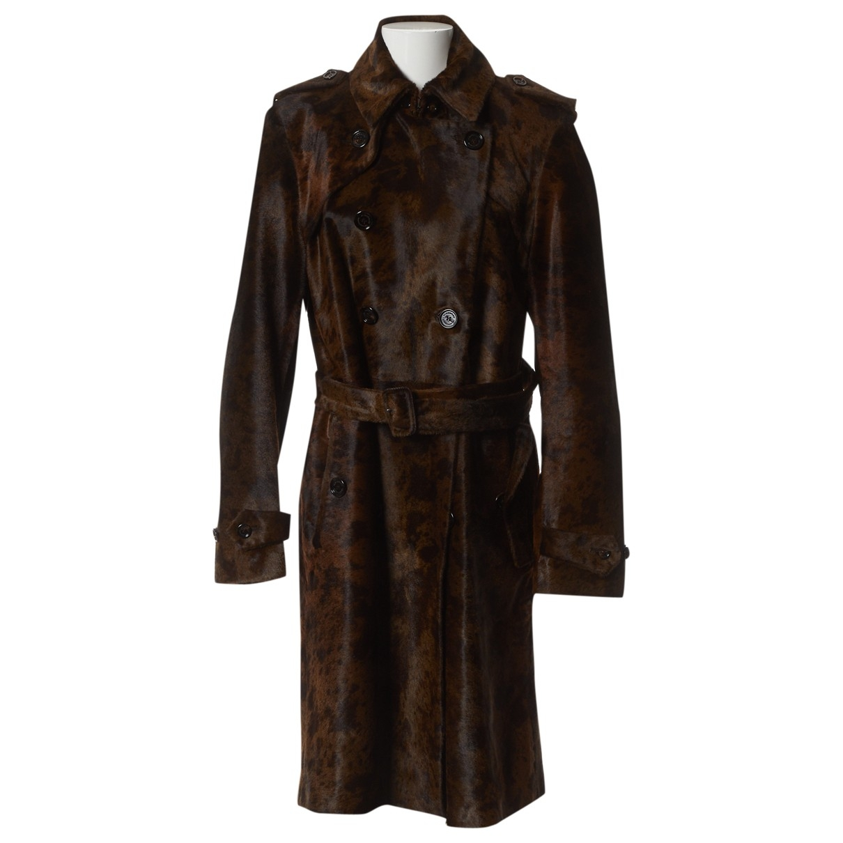 Burberry \N Brown Leather coat  for Men 50-52 IT