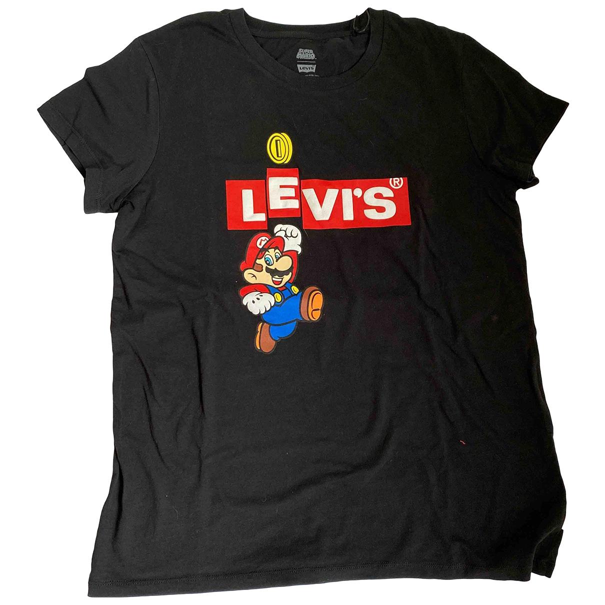 Levis - Top   pour femme en coton - noir