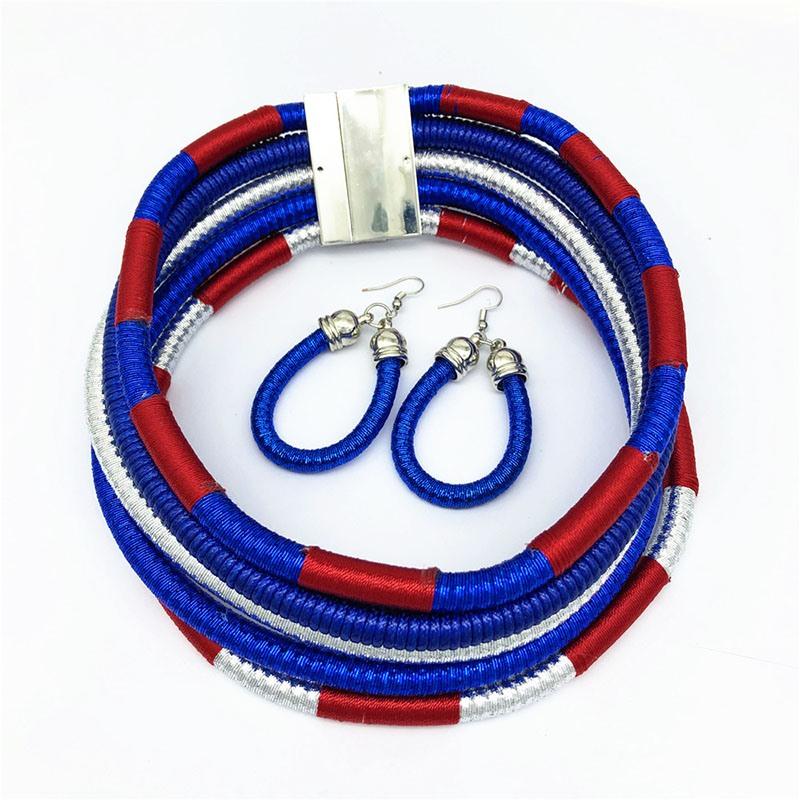 Ericdress Color Block Hoop Jewelry Sets