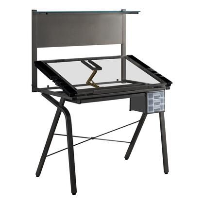 I 7034 Drafting Table - Adjustable / Grey Metal / Tempered