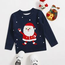 Toddler Boys Christmas Pattern Sweater
