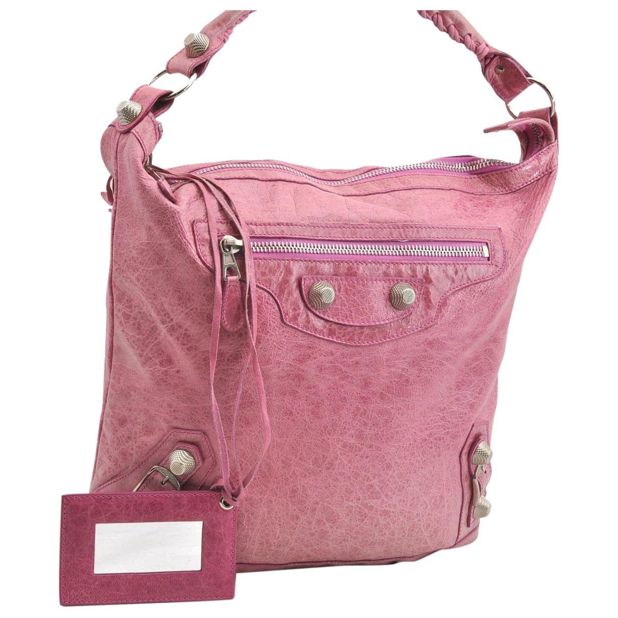 Balenciaga N Pink Leather handbag for Women N