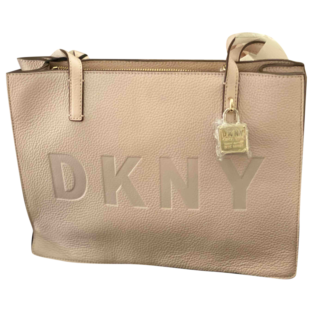 Dkny N Pink Leather handbag for Women N