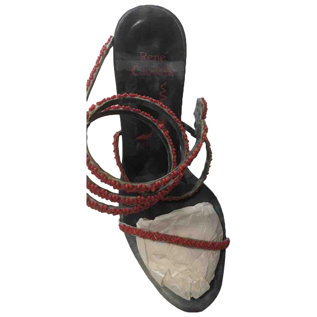 Sandalias romanas de Cuero Rene Caovilla