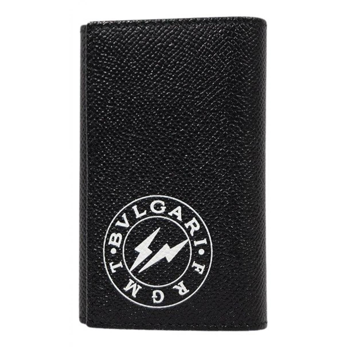 Bvlgari \N Black Leather Purses, wallet & cases for Women \N