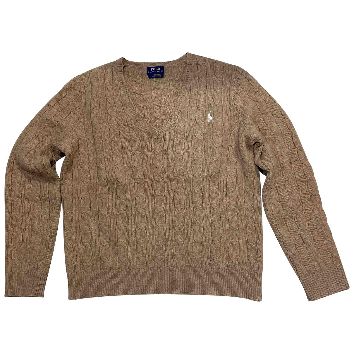 Polo Ralph Lauren - Pull   pour femme en laine - camel