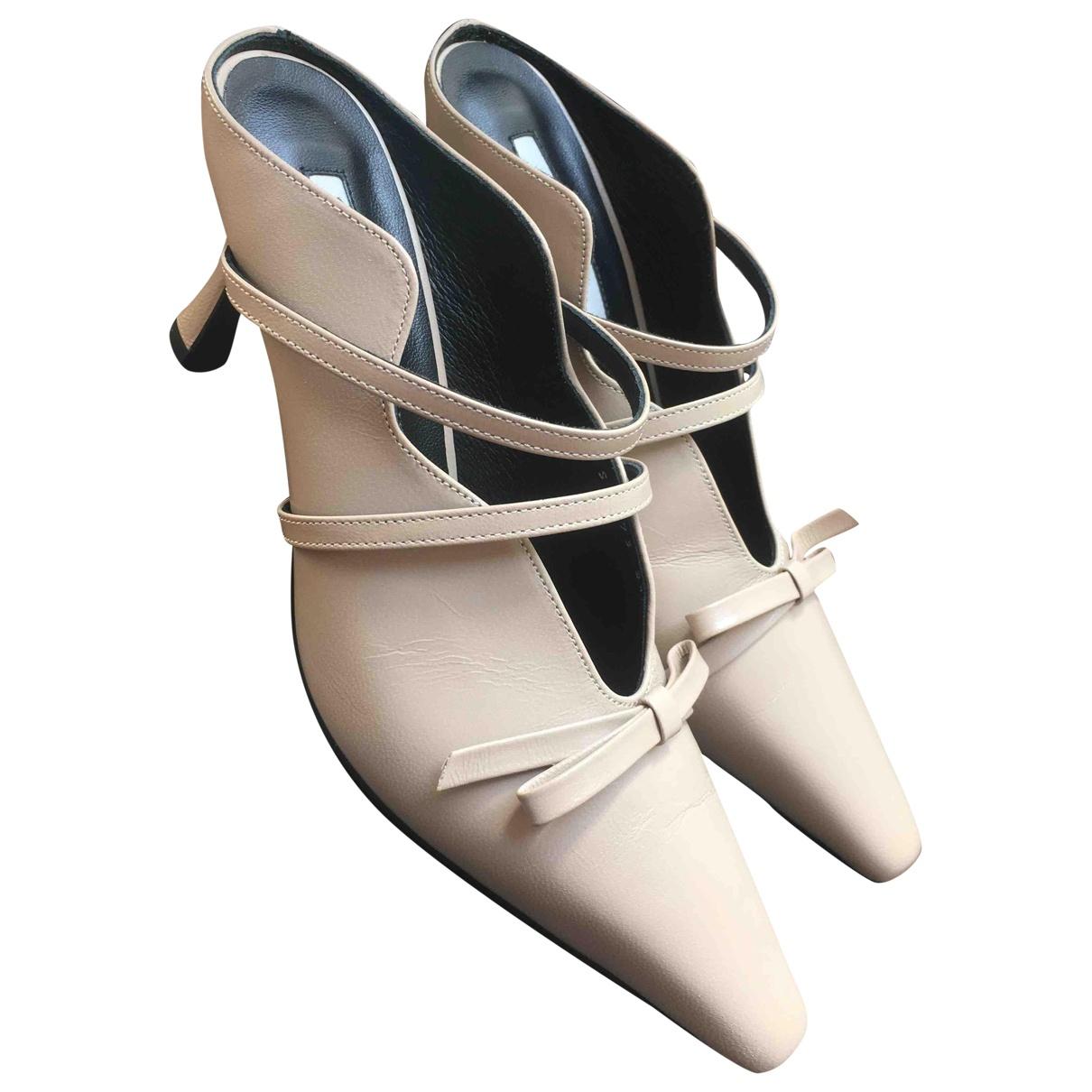 Yuul Yie \N Sandalen in  Beige Leder