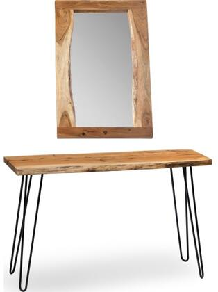 Hairpin Collection AWDD101320 Natural Live Edge Media Console & 36