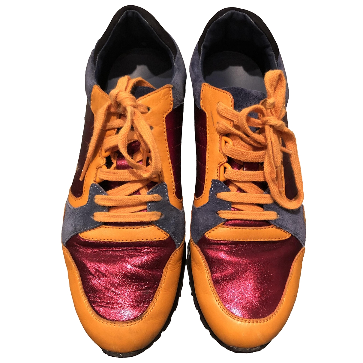 Gucci \N Orange Leather Trainers for Women 38 EU