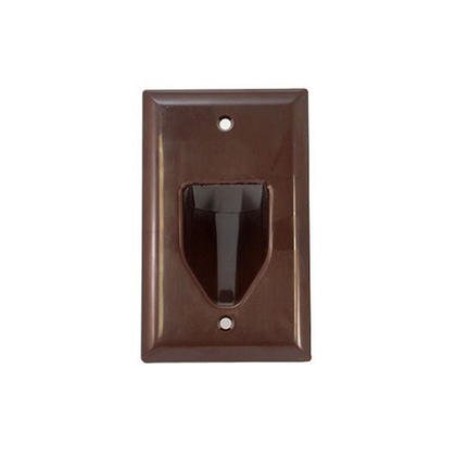 1-Gang Recessed Low Voltage Cable Wall Plate, Brown - Monoprice®