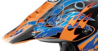 Arai VX-Pro3 Replacement Wingflame Orange Blue Peak Visor