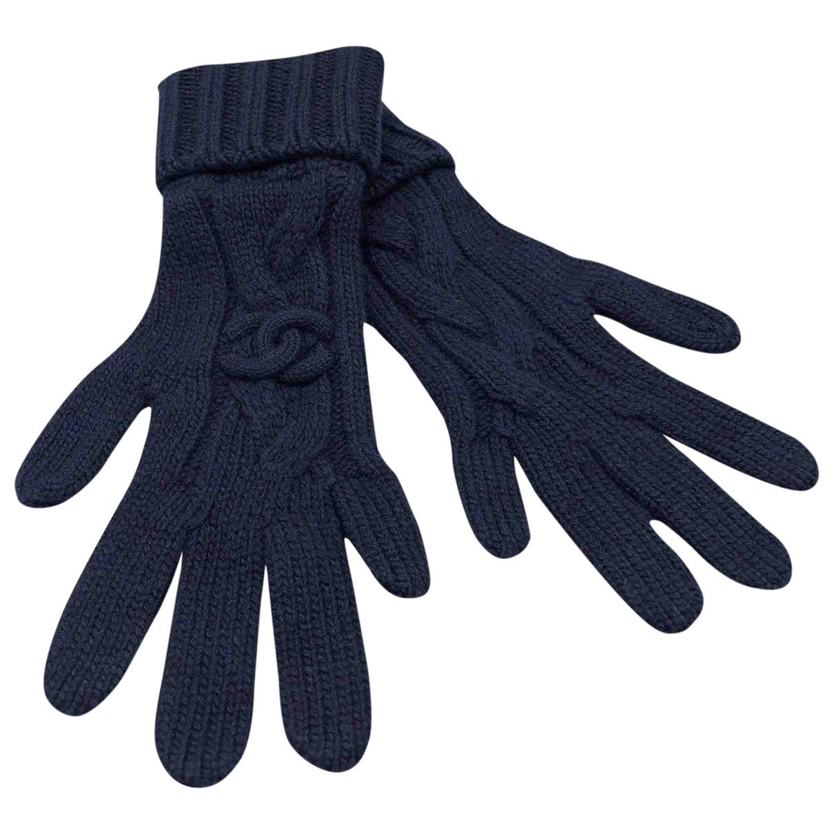 Chanel \N Handschuhe in  Marine Kaschmir