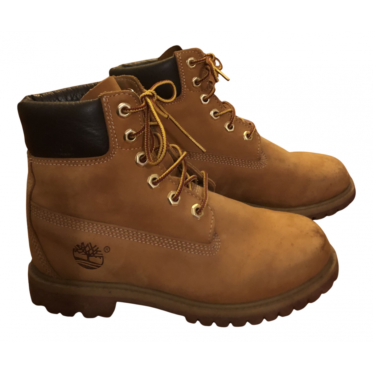 Timberland N Camel Leather Ankle boots for Women 37 IT