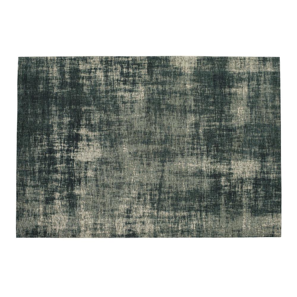 Baumwollteppich blau 155 x 230 cm