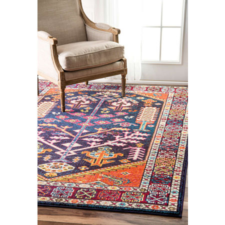 nuLoom Tribal Tonita Rug, One Size , Orange