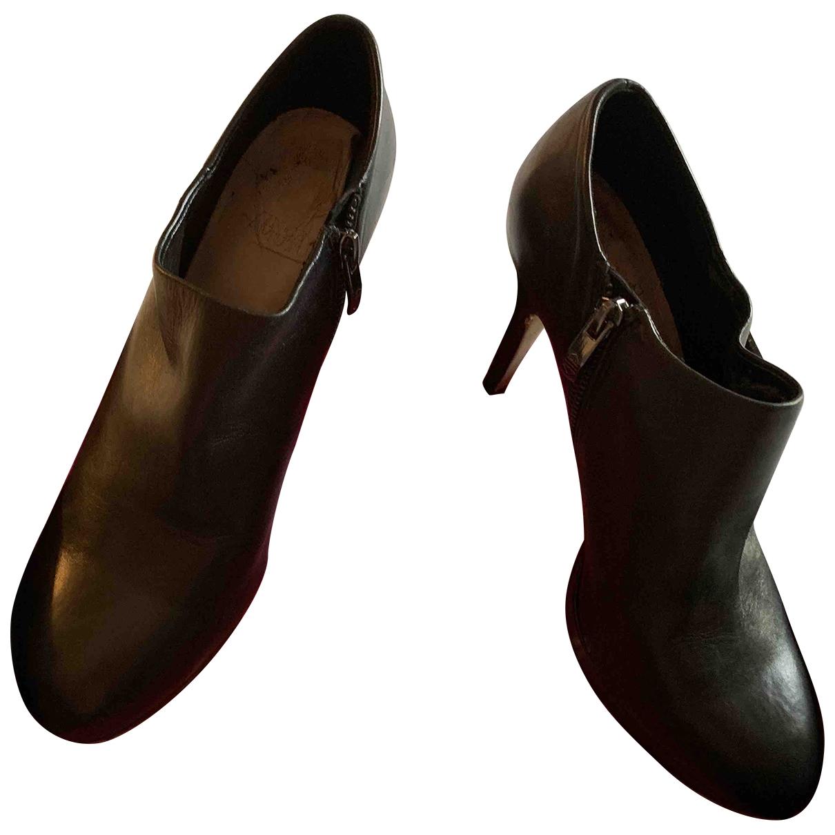 Vince Camuto - Bottes   pour femme en cuir - noir