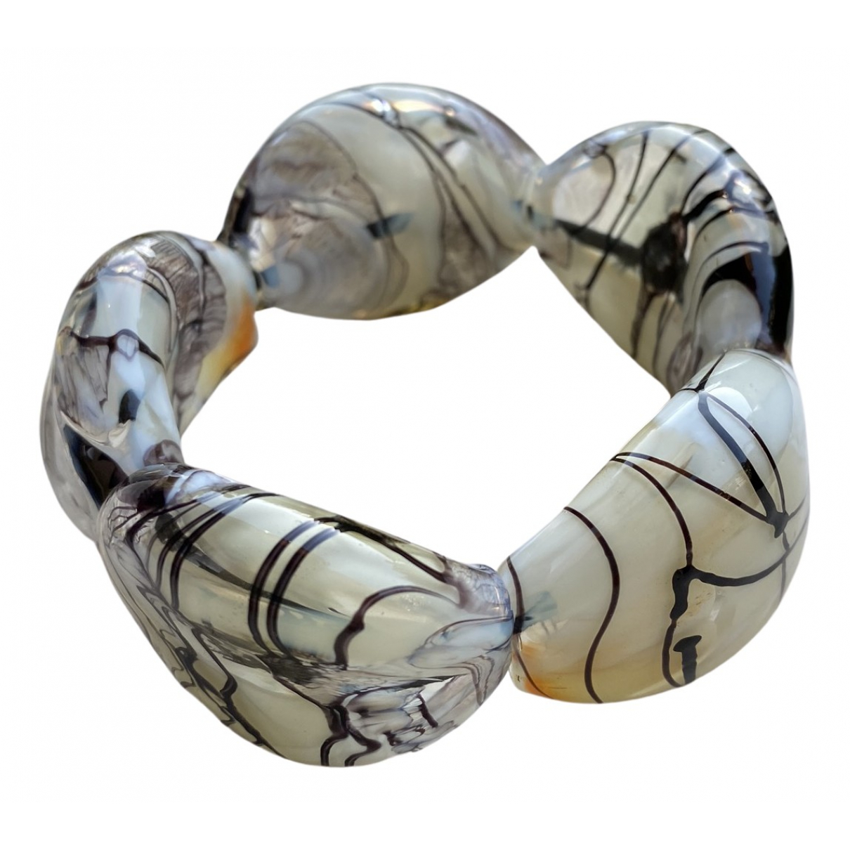 Non Signe / Unsigned Motifs Ethniques Armband in  Bunt Glas