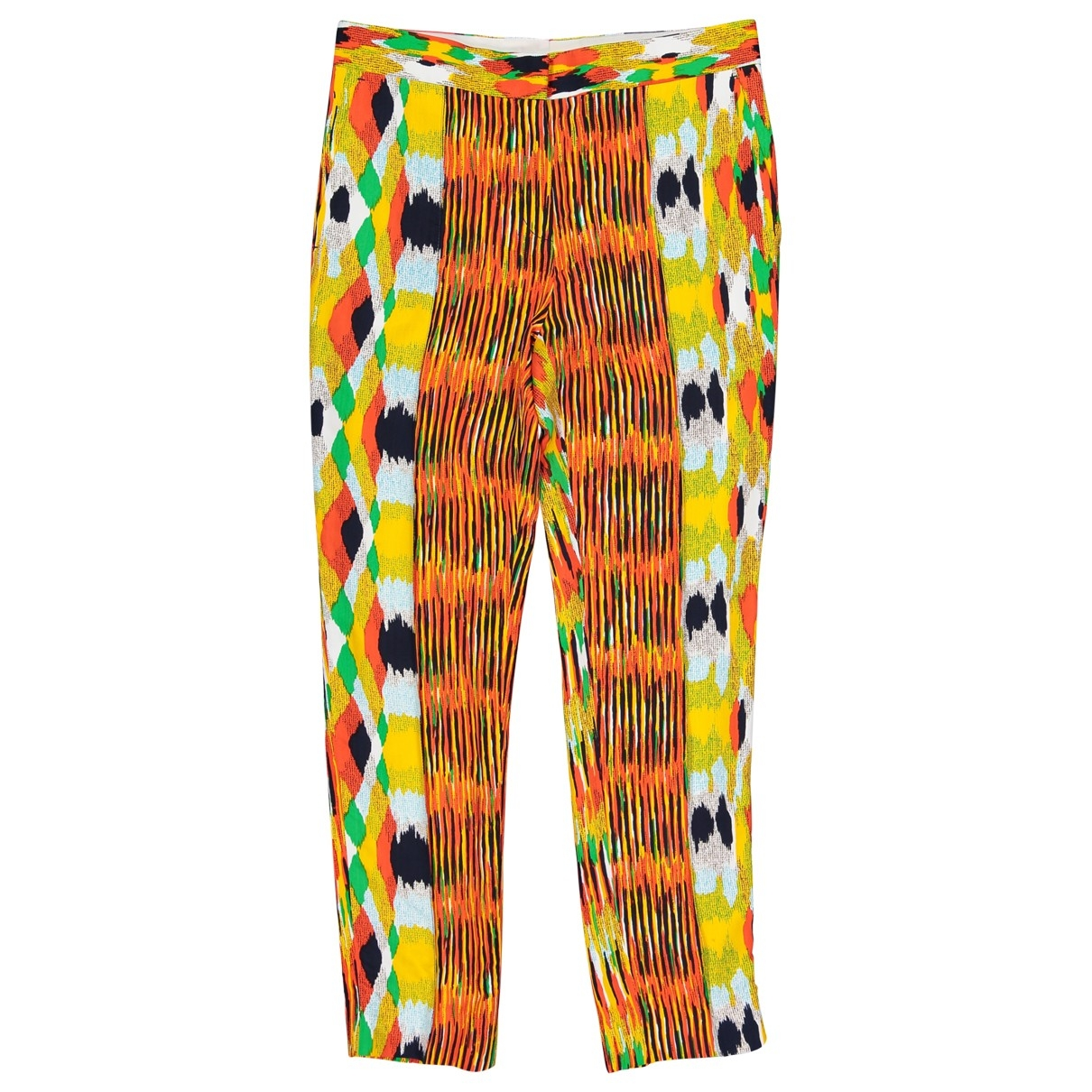 Celine \N Multicolour Trousers for Women 36 FR