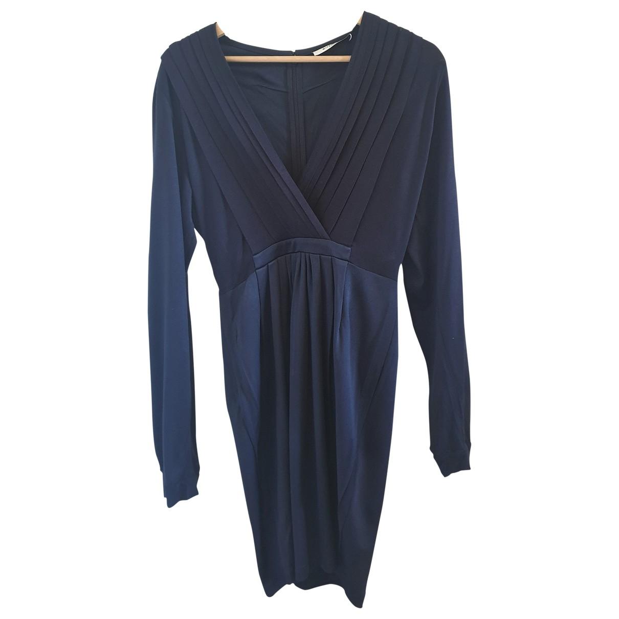 Givenchy \N Kleid in  Marine Viskose