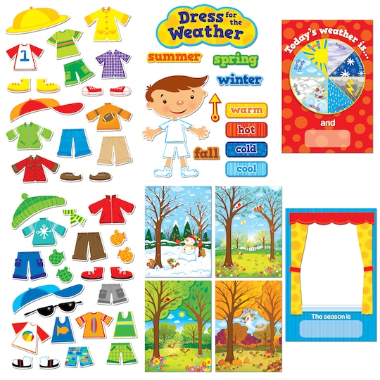 Creative Teaching Press® Bulletin Board Set, Dress For The Weather | Michaels®
