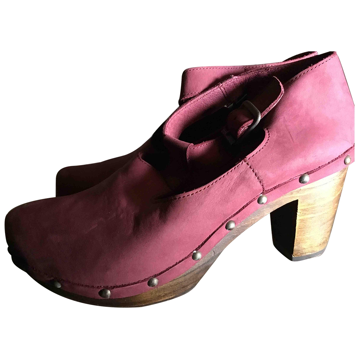Local Supply \N Purple Suede Mules & Clogs for Women 39 EU