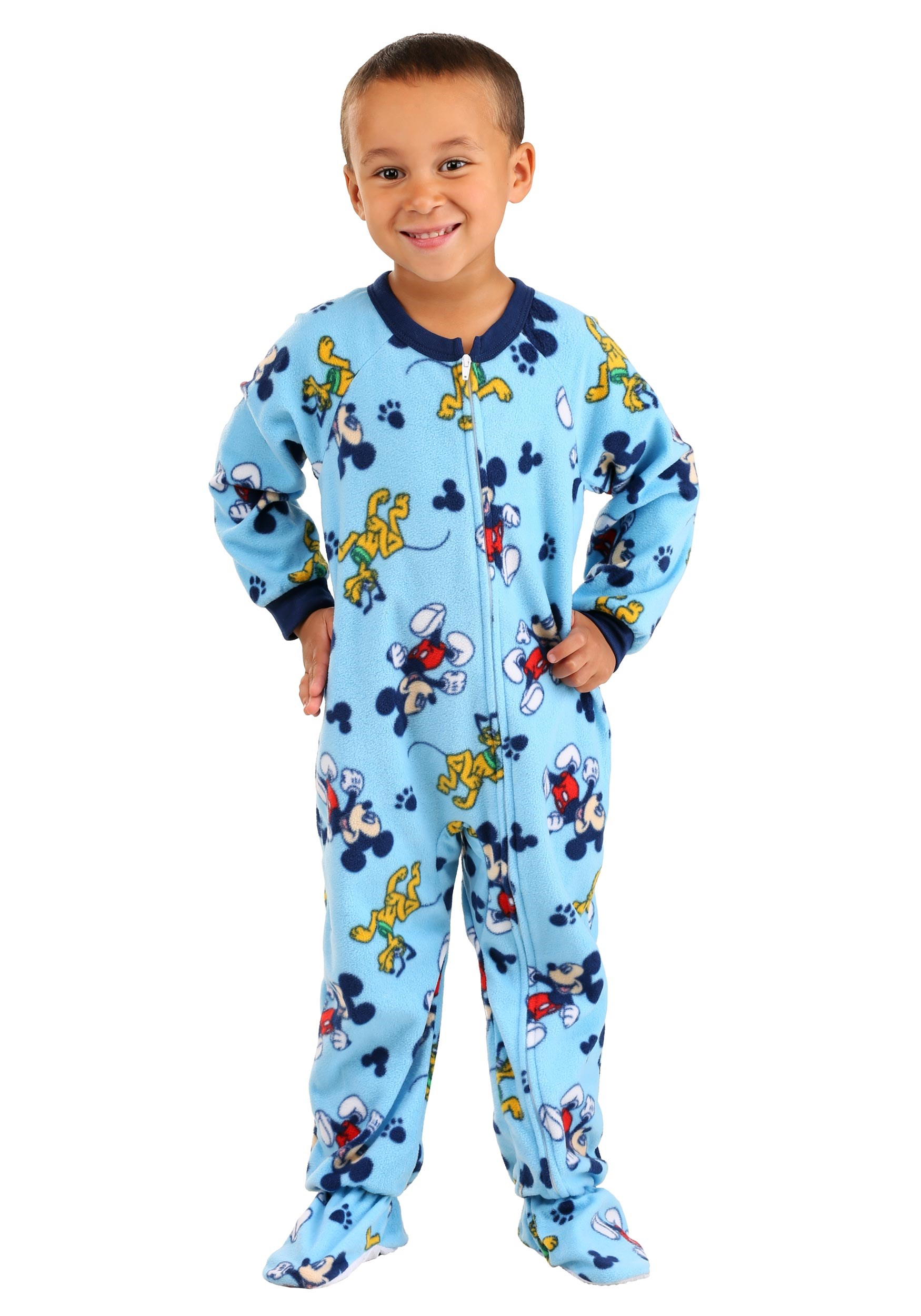 Blue Mickey and Pluto Allover Print Toddler Onesie