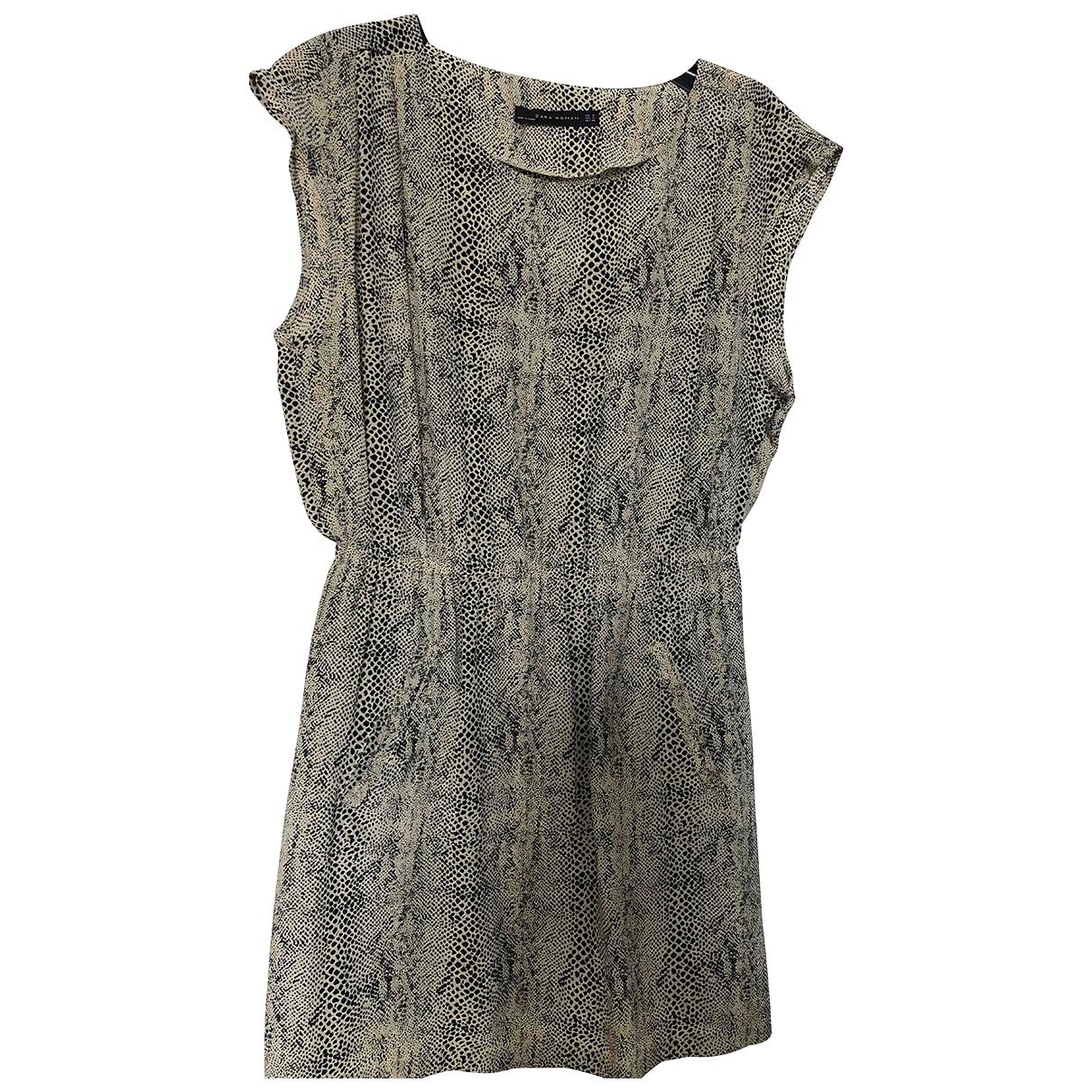 Zara - Robe   pour femme en soie - multicolore