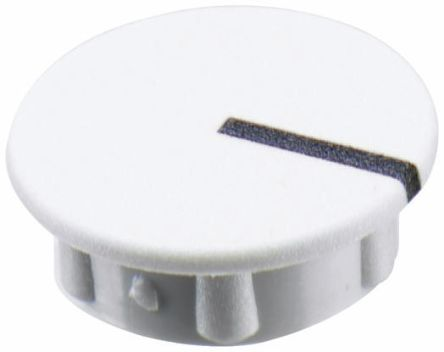 Sifam Potentiometer Knob Cap, 11mm Knob Diameter, White, For Use With Collet Knob (10)