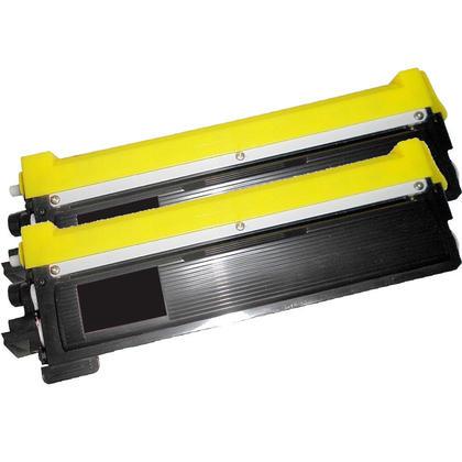 Compatible Brother TN-210 Toner Cartridge - Economical Box - Black-2/Pack