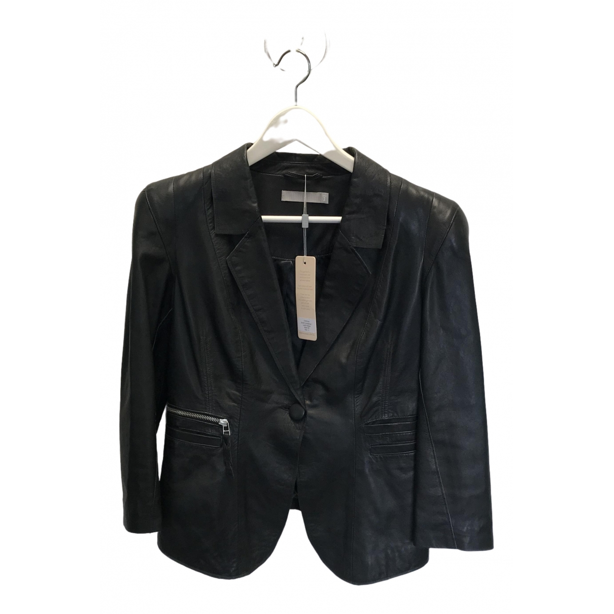 Dna \N Black Leather Leather jacket for Women 3 0-5