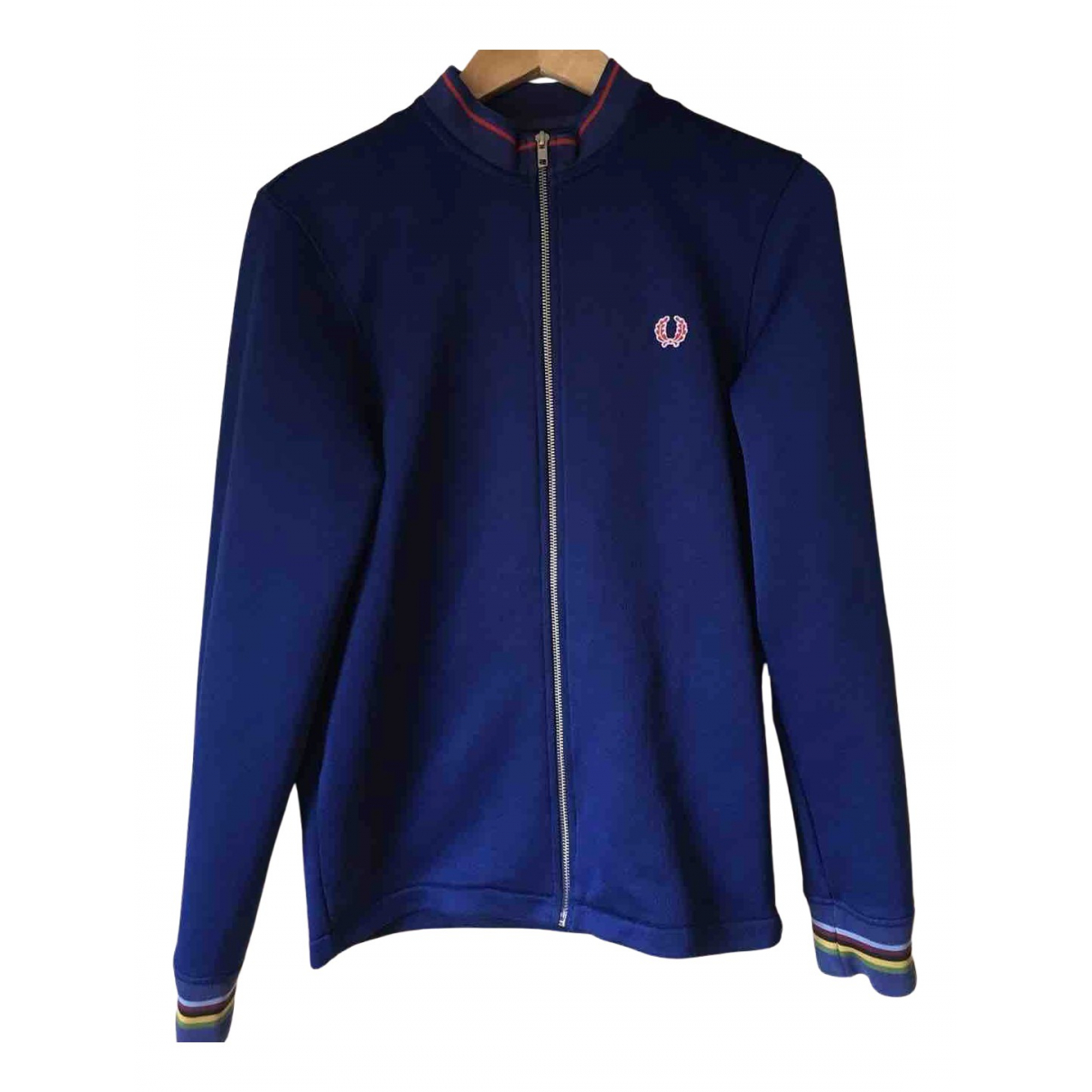 Fred Perry N Blue Cotton jacket  for Men S International
