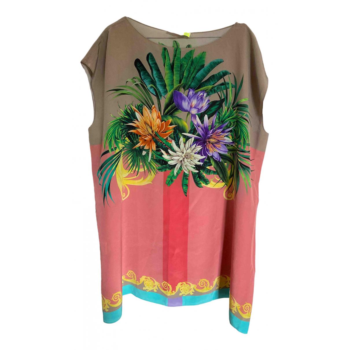 Msgm - Top   pour femme en soie - multicolore