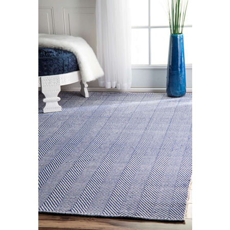 nuLoom Hand Loomed Kimberely Rug, One Size , Blue
