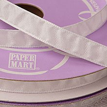 Polyester White Puckered Satin Ribbon - 3/8 X 25yd - Polyethyleneester - Embellishments & Trims by Paper Mart