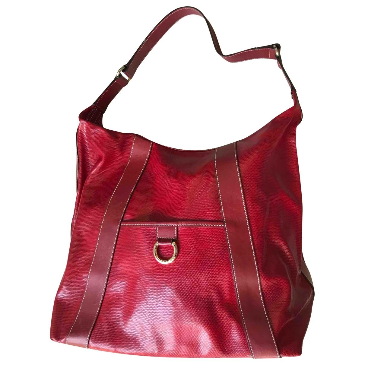 Lancel - Sac a main   pour femme en cuir - rouge