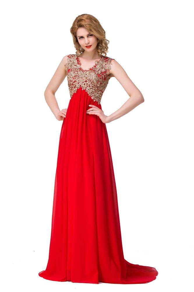 Lange Prom Spitze Kleider Abendkleider mit Pailletten und Applikationen