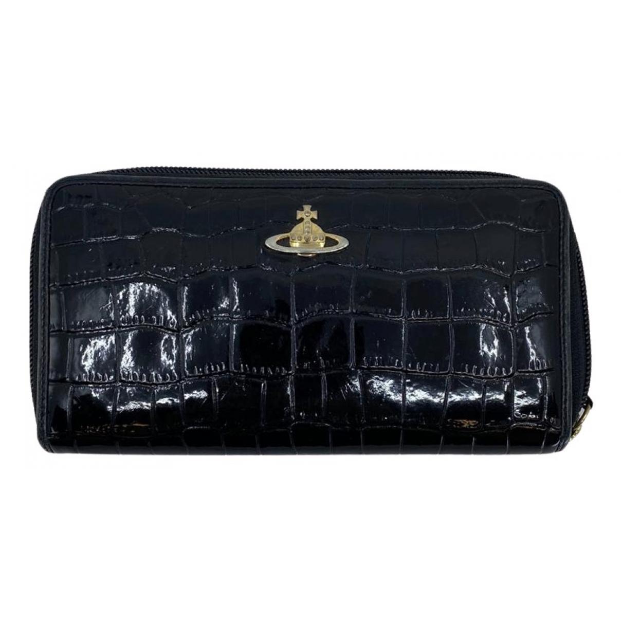 Vivienne Westwood - Portefeuille   pour femme en cuir verni - noir