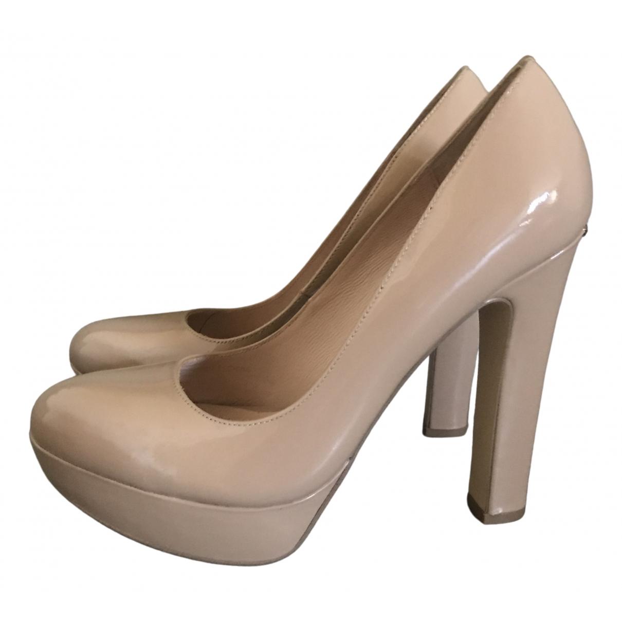 Liu.jo \N Camel Leather Heels for Women 37 IT