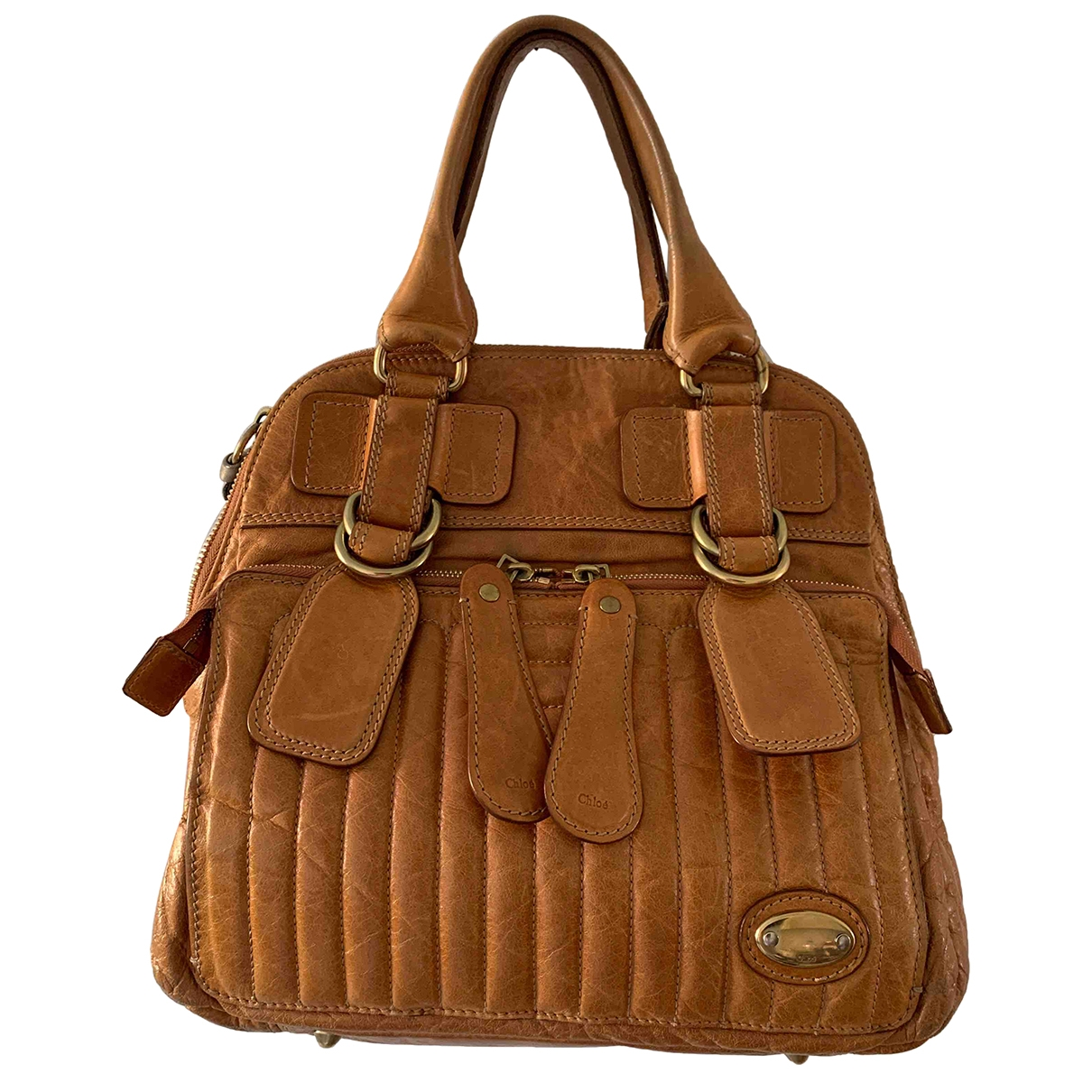 Chloé Bay Camel Leather handbag for Women \N