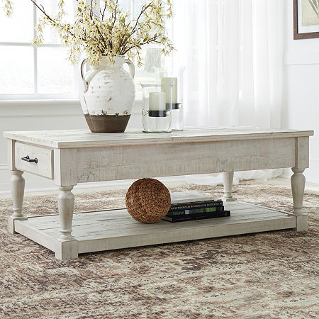 Signature Design by Ashley Shawnalore Coffee Table, One Size , White
