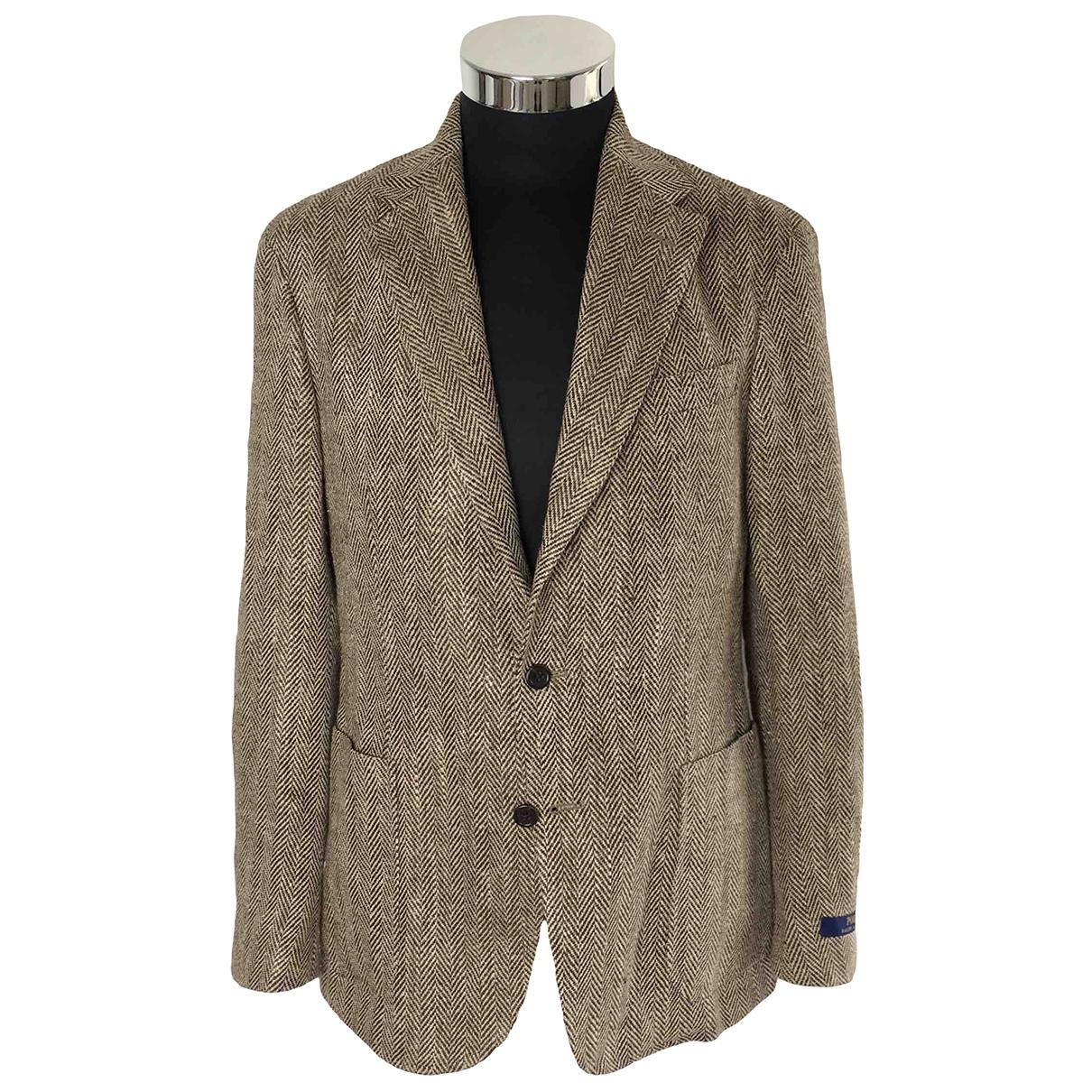 Polo Ralph Lauren - Vestes.Blousons   pour homme en lin - marron