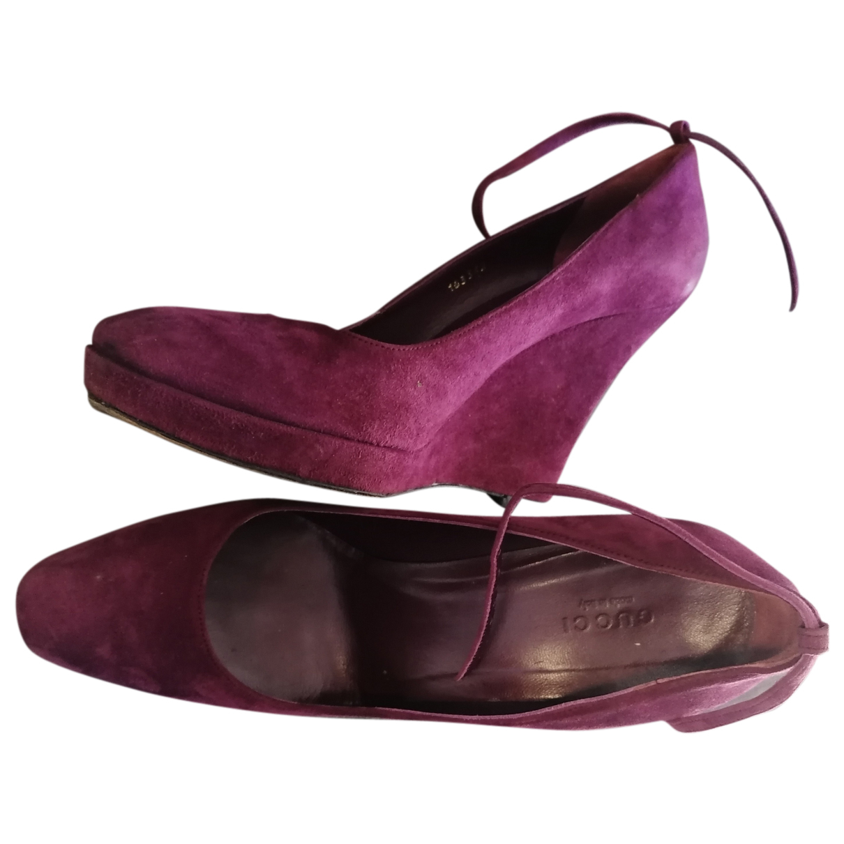 Gucci N Purple Suede Heels for Women 38 IT