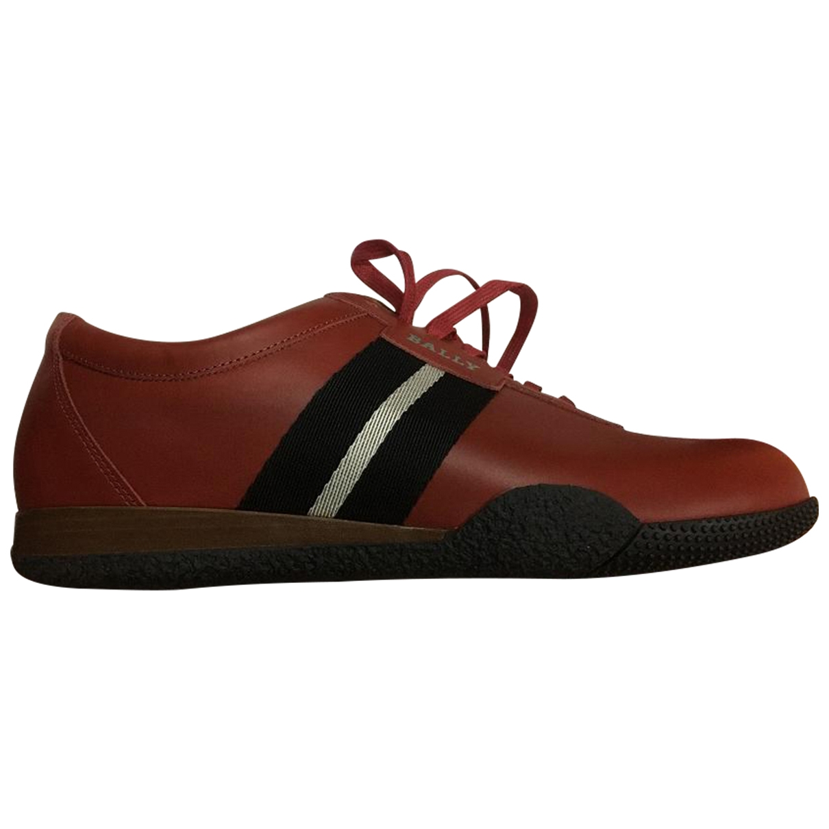 Bally \N Red Leather Trainers for Men 44 EU