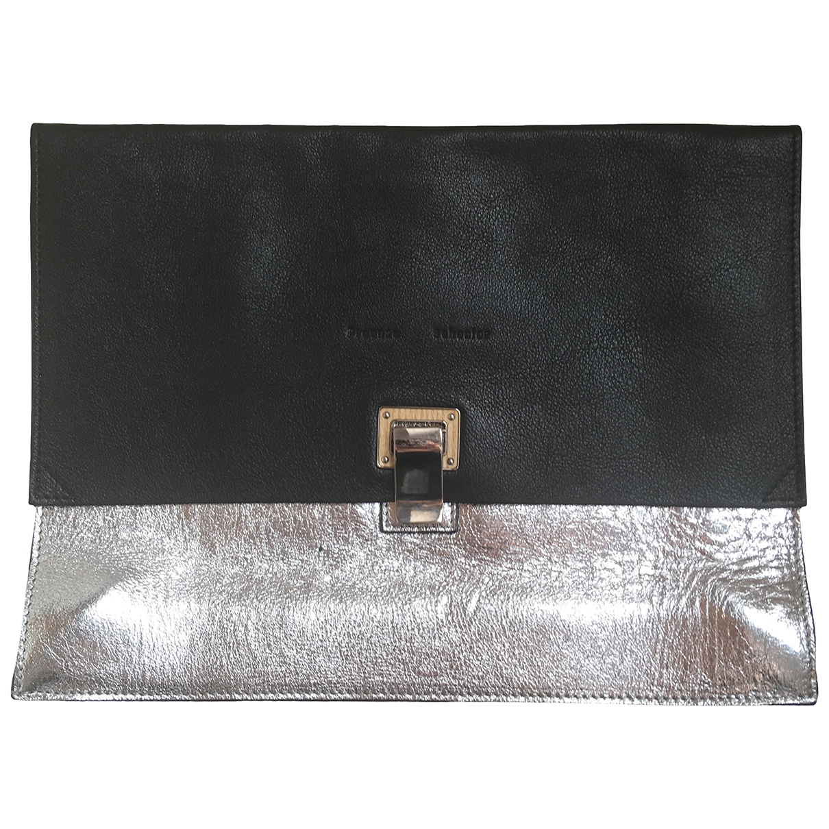 Proenza Schouler Lunch Clutch in  Schwarz Leder