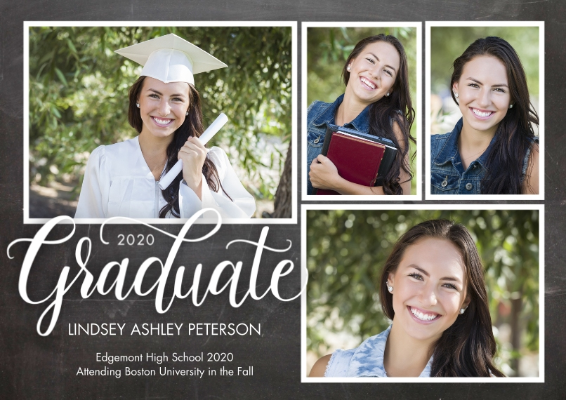 2020 Graduation Announcements 5x7 Cards, Premium Cardstock 120lb with Scalloped Corners, Card & Stationery -Graduate 2020 Rustic by Tumbalina