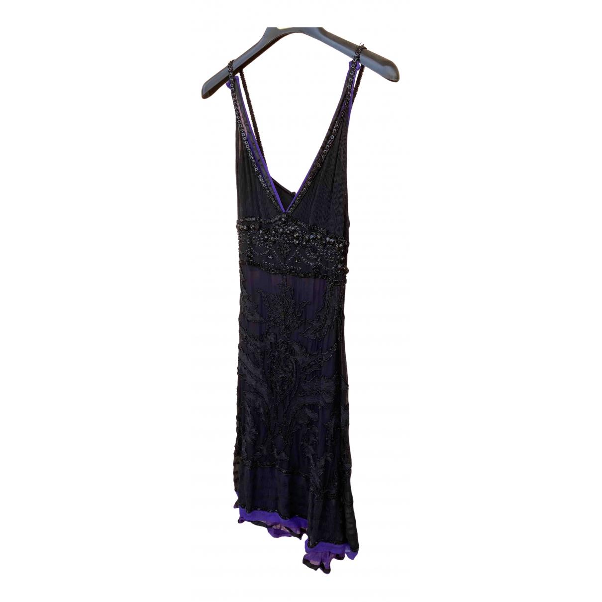 Just Cavalli \N Kleid in  Schwarz Mit Pailletten