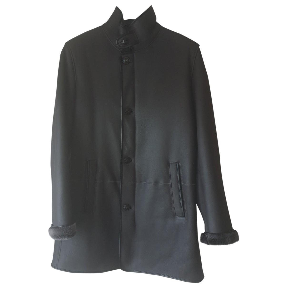 Armani Collezioni \N Black Shearling jacket  for Men 52 IT