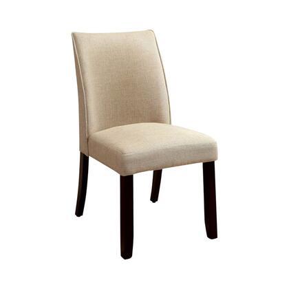 BM131291 Cimma Contemporary Side Chair  Ivory & Espresso  Set Of