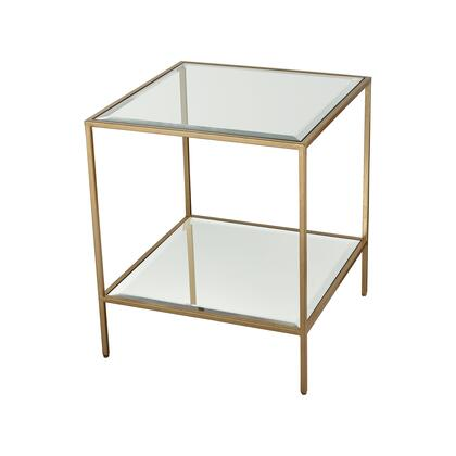 1114-301 Scotch Mist Side Table  In Gold Leaf  Clear Glass